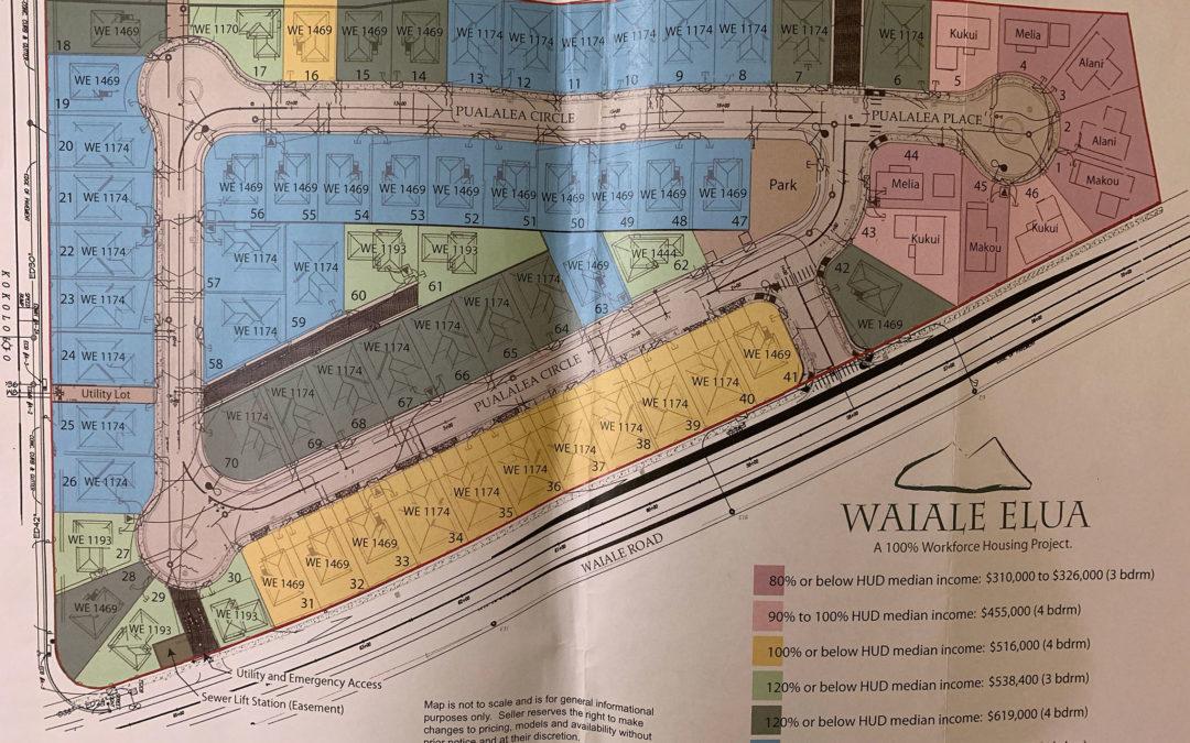 Waiale Elua Subdivision Information